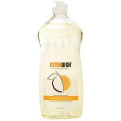 Citra solv dish natural liquid dish soap, valencia orange - 25 oz,12 pack