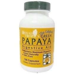 Royal Tropics Green Papaya digestive aid capsules - 150 ea