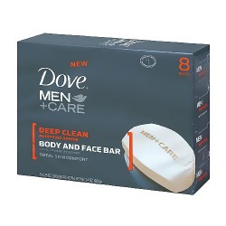 Dove men plus care deep clean body and face bar - 4.25 oz, 2 bars