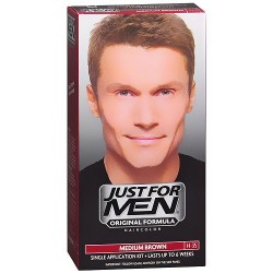 Just for men shampoo-in hair color, medium brown - 1 ea