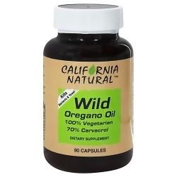 California Natural Wild Oregano Oil 100% Vegetarian Capsules - 90 ea
