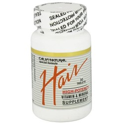 California natural hair vitamin and mineral supplement special formula tablets  -  30 Ea