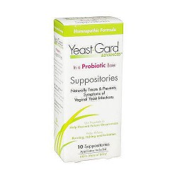 Yeast-Gard Advanced Homeopathic Suppositories, Probiotic Base - 10 ea