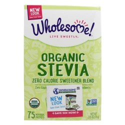 Wholesome sweeteners - organic stevia - 75 packets