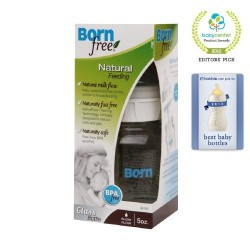 Born free glass bottle with activeflow venting technology - 5 oz