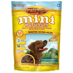 Zukes mini naturals healthy moist miniture training dog treats, chicken - 16 oz