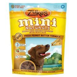 Zukes mini naturals fresh peanut butter formula dog treats - 6 oz