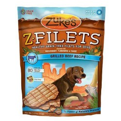 Zukes z filets grilled beef for dogs - 3.25 oz