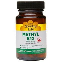 Country life methyl B-12 capsules, 5000 Mcg - 60 ea