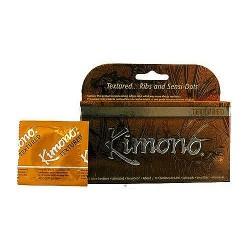 Kimono Textured Lubricated Latex Condoms - 12 ea
