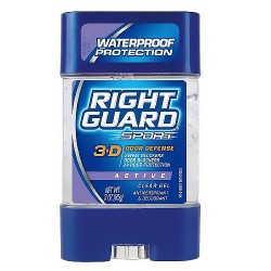 Right Guard Sport 3-D Odor Defence Active Clear Gel Antiperspirant Deodorant - 3 oz