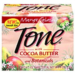Tone Bath Soap Mango Splash with Cocoa Butter and Botanicals - 4.25 Oz, 2 Bars