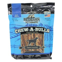 Redbarn Pet Products Inc chew-a-bulls beef premium dog chew - 6 pk, 6 ea