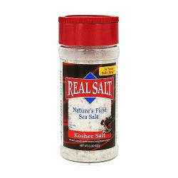 Real Salt Natures First Sea Salt Shaker, Kosher - 8 oz, 12 pack