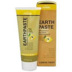 Redmond Earth paste Amazingly Natural Toothpaste, Lemon Twist - 4 oz