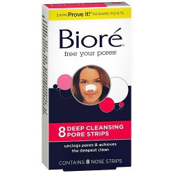 Biore Deep Cleansing Pore Strips For Nose - 8 Ea
