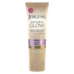 Jergens Natural 3 Days To Glow Moisturizer, Fair to Medium - 4 oz