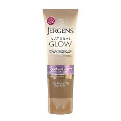 Jergens Natural Glow 3 Days to Glow Skin Moisturizer, Medium to Tan - 4 oz