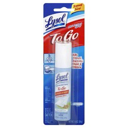 Lysol To Go Disinfectant Spray, Crisp Linen Scent - 1 Oz