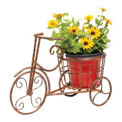 Deer Park Ironworks sunburst bike planter - 4 ea