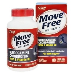 Schiff Move Free Triple-Strength Plus MSM And Vitamin D3 Tablets, Advanced - 80 ea