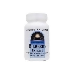 Source Naturals Bilberry extract 100 mg tablets - 120 ea