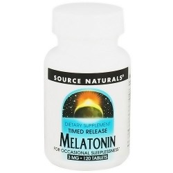 Source Naturals Melatonin 3 mg Time Release Tablets - 120 ea