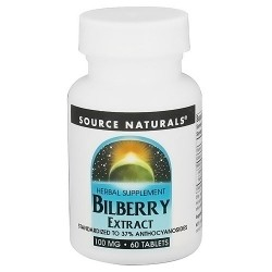 Source Naturals Bilberry extract 100 mg tablets - 60 ea