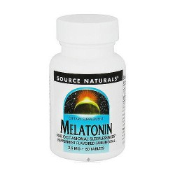 Melatonin 2.5 mg peppermint flavored sublingual tablets for restfull sleep, 60 ea