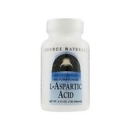 Source Naturals L-Aspartic acid powder 100 gm - 3.53 oz