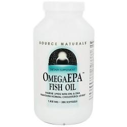 Source Naturals Omega EPA fish oil 1000 mg softgels - 200 ea