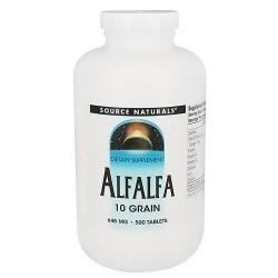 Source Naturals Alfalfa 10 grain 648 mg tablets - 500 ea
