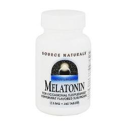Melatonin sublingual 2.5 mg tablets, peppermint flavour, 240 ea