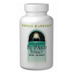 Source Naturals Pau D Arco 500 mg tablets - 100 ea