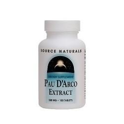 Source Naturals Pau D Arco extract 500 mg tablets - 100 ea