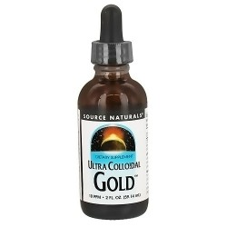 Ultra colloidal gold 10 PPM liquid dropper improves immunity - 2 oz