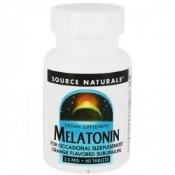 Source Naturals Melatonin 2.5 mg, Orange - 60 Sublingual Tablets