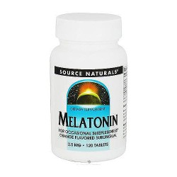 Melatonin 2.5 mg orange flavored sublingual tablets by Source Naturals - 120 ea