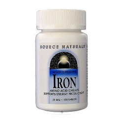 Source Naturals Iron chelate 25 mg tablets - 100 ea