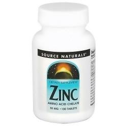 Source Naturals Zinc chelate 50 mg tablets - 100 ea