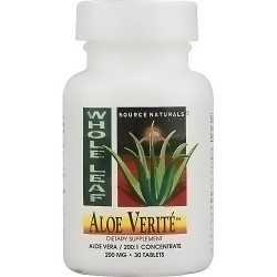 Source Naturals Aloe Verite whole leaf 200 mg tablets - 30 ea