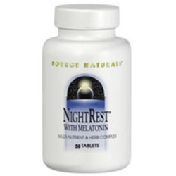 Source Naturals Night rest with melatonin multi nutrient and herb complex tablets - 50 ea