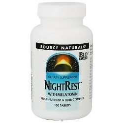 Source Naturals Night Rest with Melatonin Tablets - 100 ea