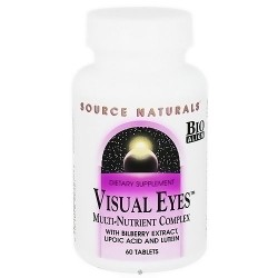 Source Naturals Visual eyes multi-nutrient complex tablets - 60 ea