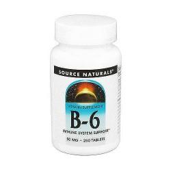Source naturals vitamin B-6 immune support 50 mg tablets - 250 ea