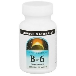 Source Naturals Vitamin B-6 time released 500 mg tablets - 50 ea