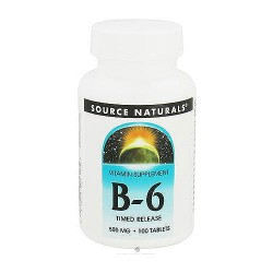 Source naturals vitamin B-6 time released  tablets, 500 mg - 100 ea