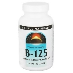 Source Naturals B-125 tablets 125 mg for energy production - 90 ea