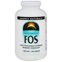 FOS fructooligosaccharides probiotic enhancer 1000 mg tablets - 200 ea