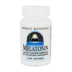 Melatonin orange flavored sublingual 5 mg tablets - 200 ea